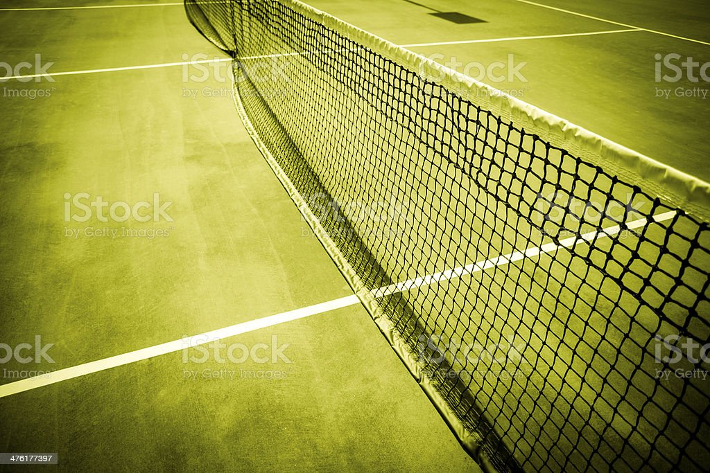 Tennis Court Net stock photo