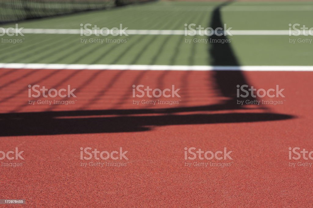 Tennis Court Net Shadow Sport Venue royalty-free stock photo