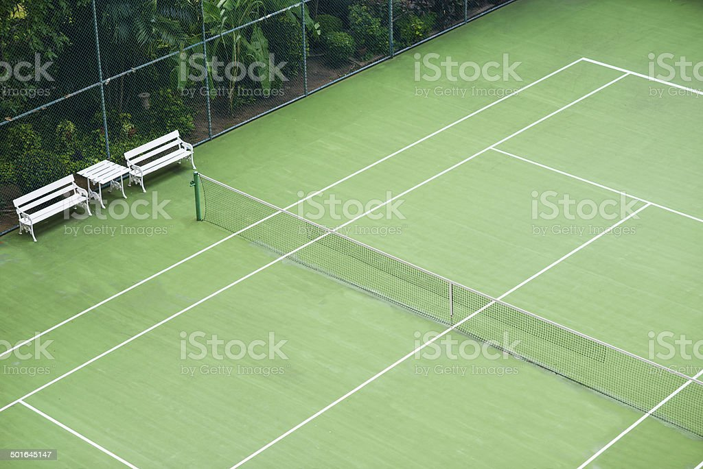 Tennis court royalty-free stock photo