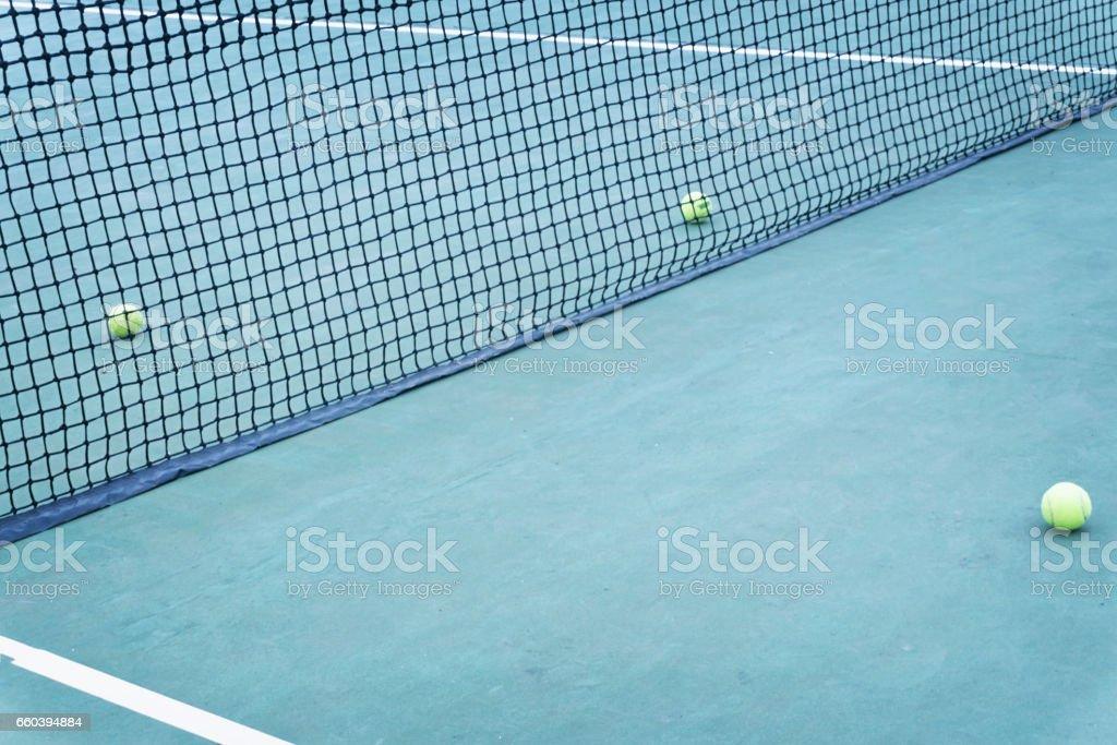 Tennis court stock photo