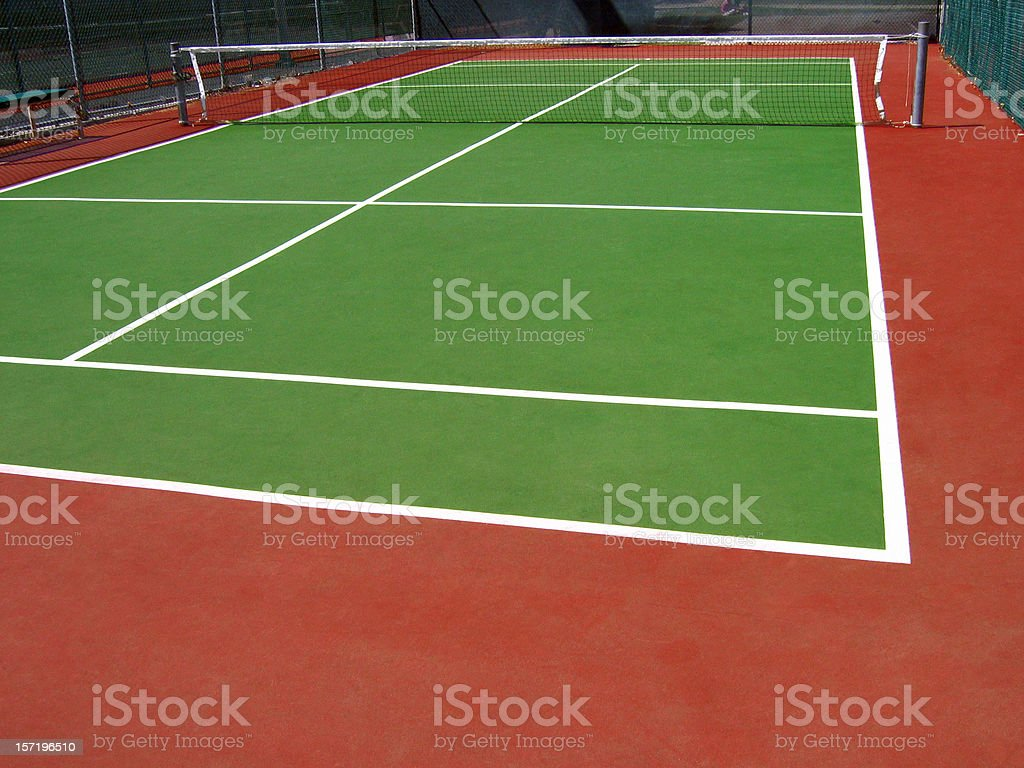 Tennis court view stock photo