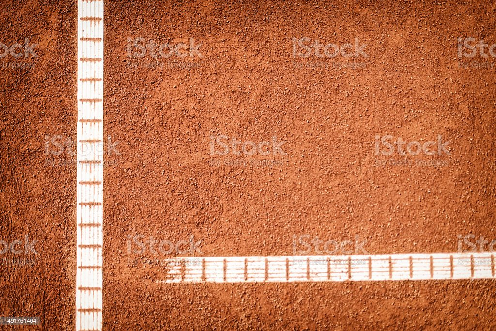 tennis court with baseline stock photo