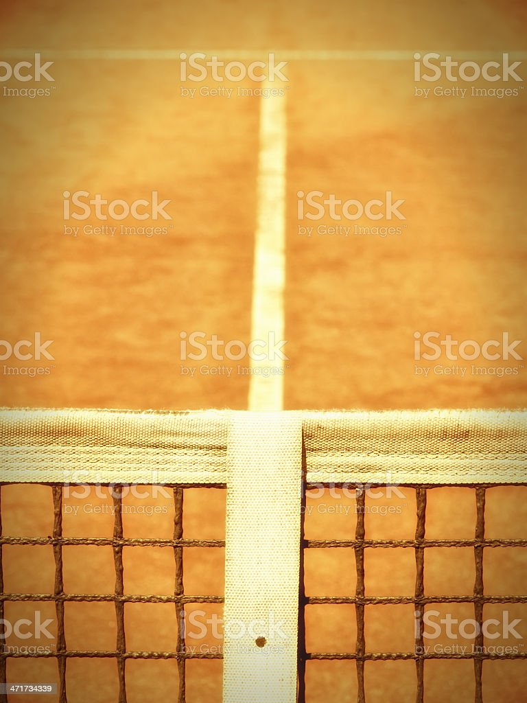 tennis court with line and net royalty-free stock photo
