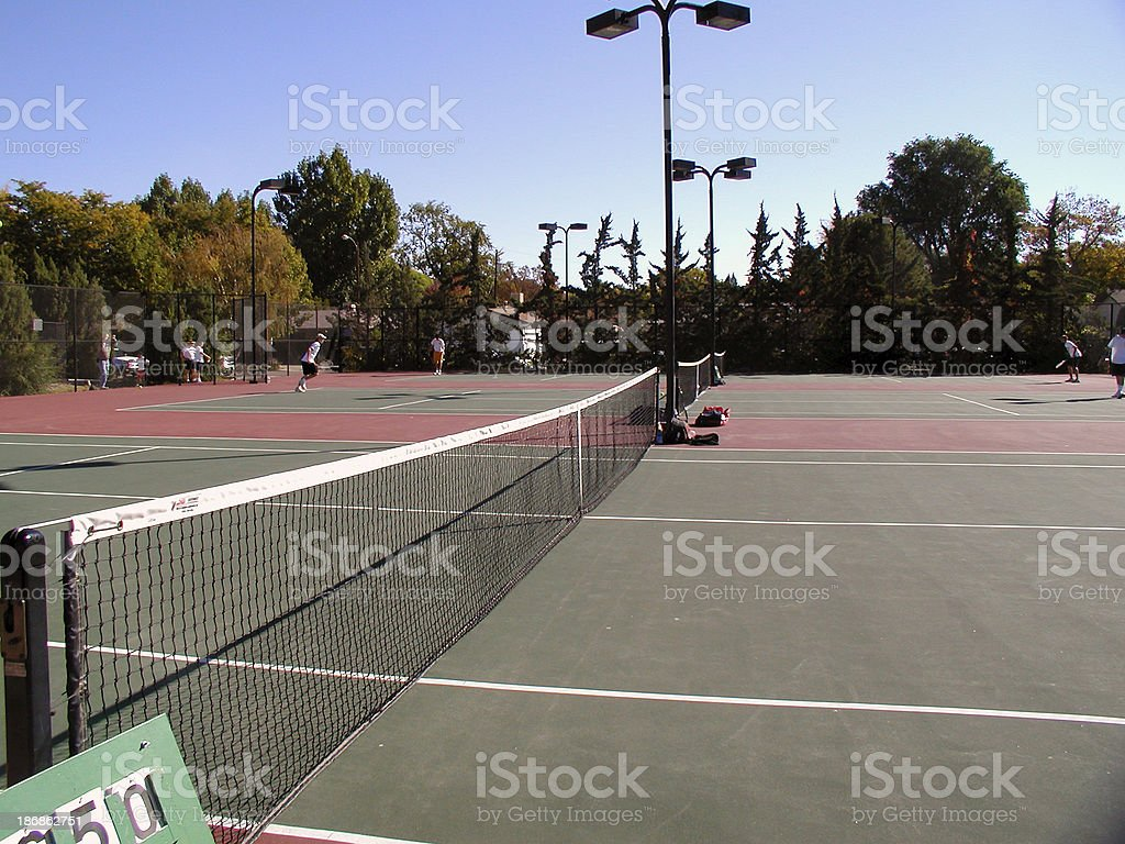 Tennis Courts royalty-free stock photo
