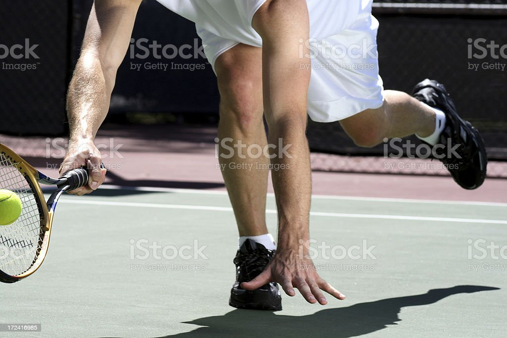 Tennis Dive royalty-free stock photo