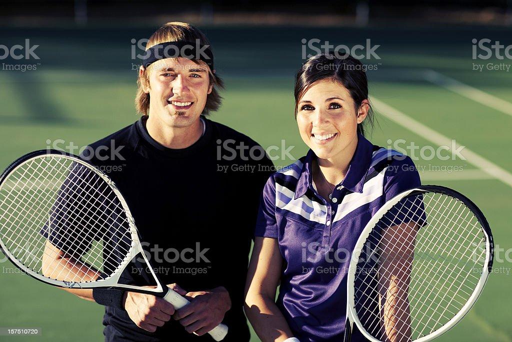 Tennis Doubles stock photo