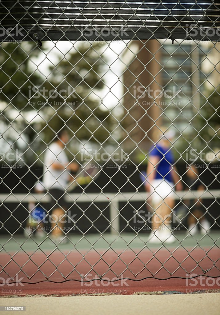 Tennis Doubles royalty-free stock photo