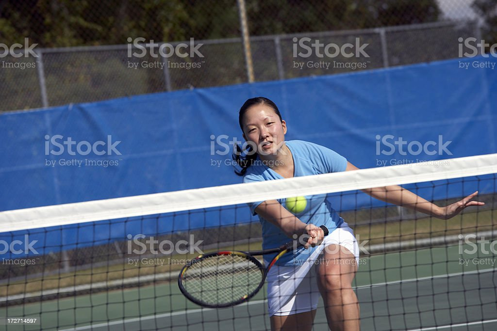 tennis drop volley royalty-free stock photo