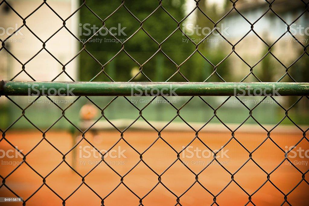 Tennis Fence royalty-free stock photo