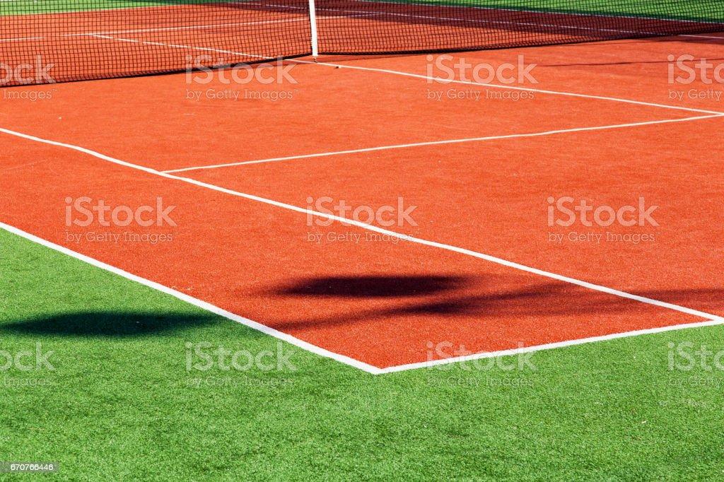 Tennis Field stock photo