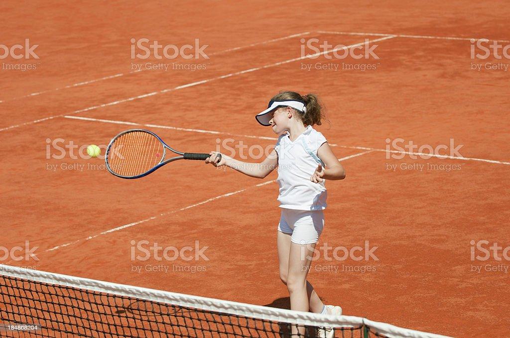 Tennis forehand royalty-free stock photo