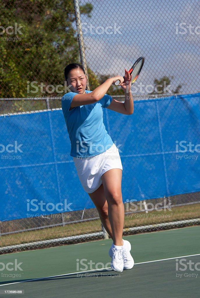 tennis forehand winner royalty-free stock photo