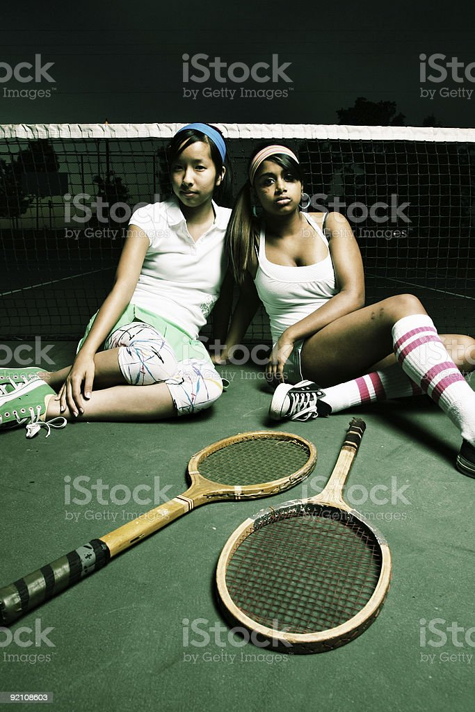 Tennis Friends royalty-free stock photo