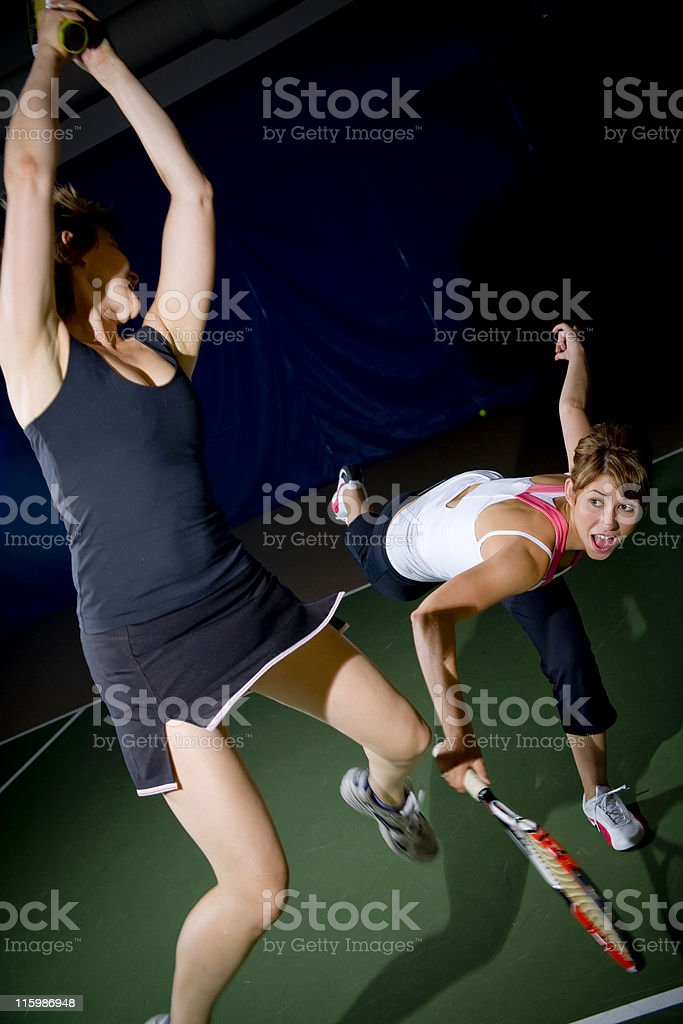 Tennis fun royalty-free stock photo