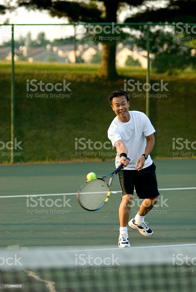 Tennis Fun royalty-free stock photo