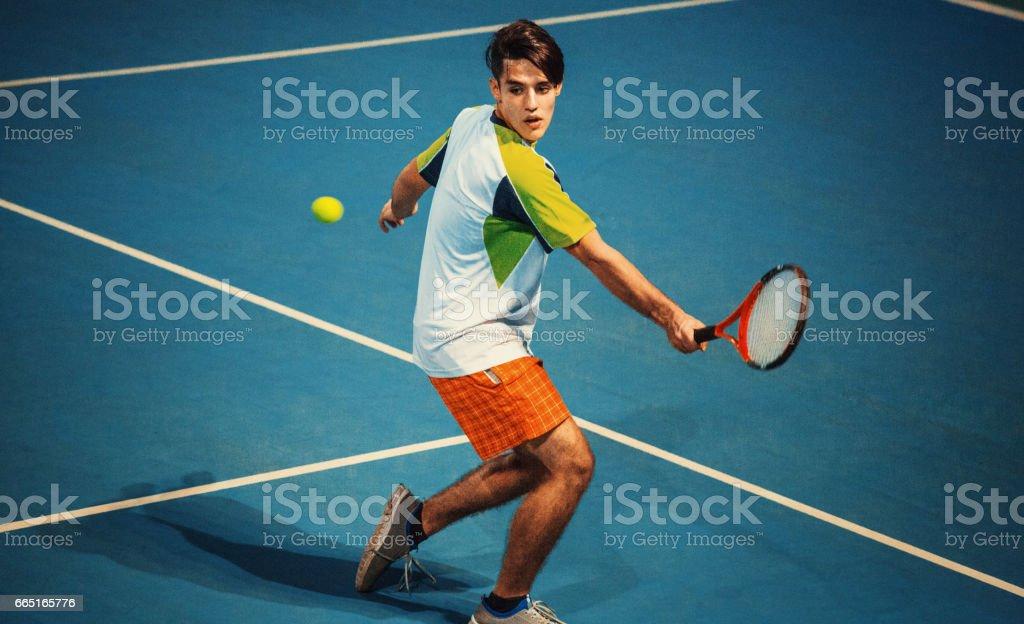 Tennis game. stock photo