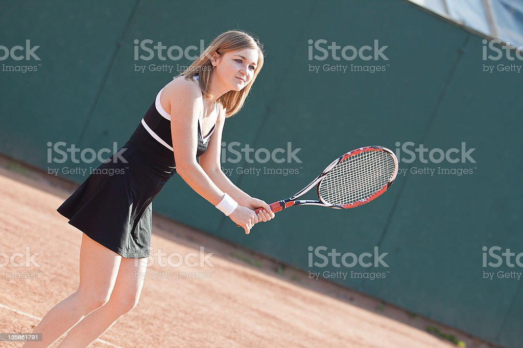 Tennis girl. royalty-free stock photo