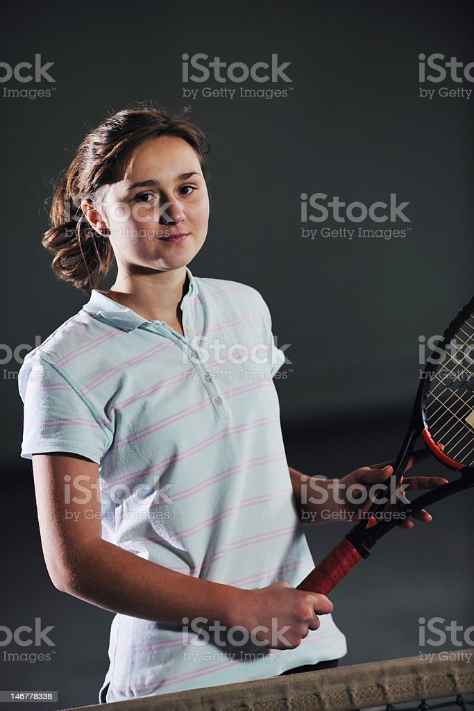 tenis girl royalty-free stock photo