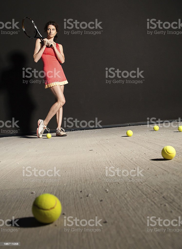 Tennis girl royalty-free stock photo