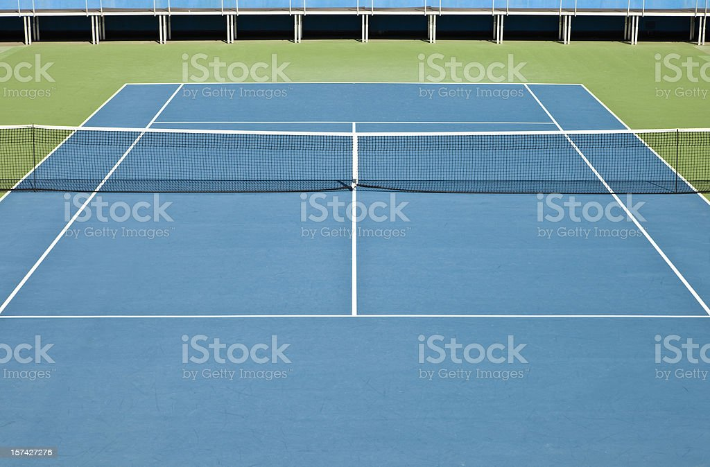 Tennis hard court royalty-free stock photo