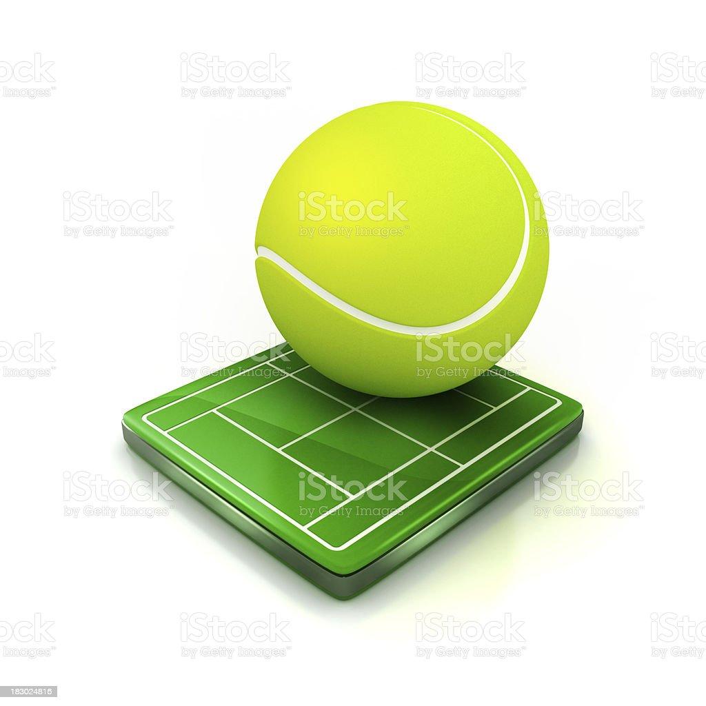 tennis icon royalty-free stock photo