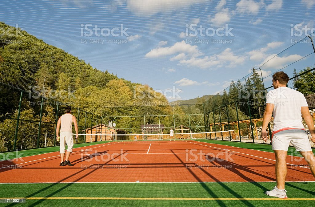 Tennis in the mountains royalty-free stock photo