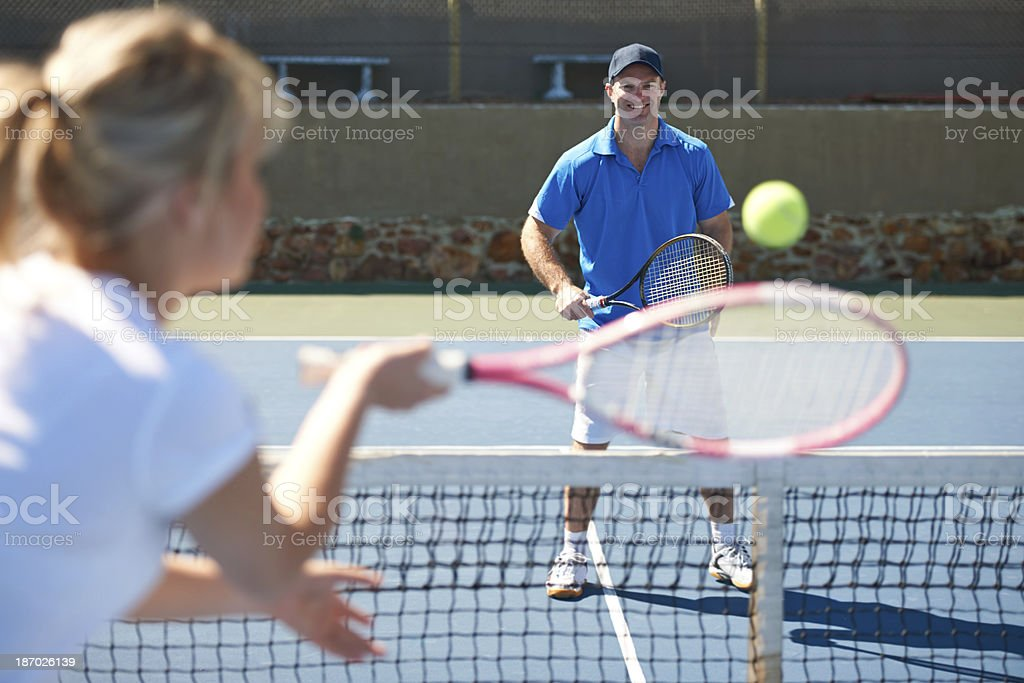 Tennis is a great recreational activity royalty-free stock photo