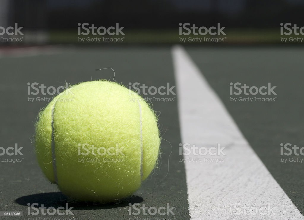 Tennis - Just outside the line royalty-free stock photo
