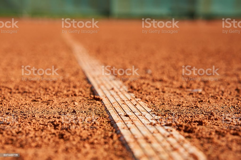 Tennis line stock photo