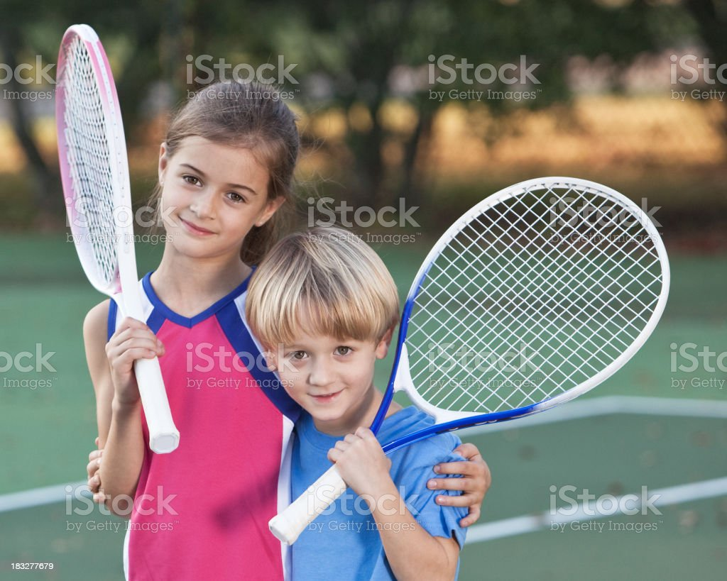 Tennis LOVE royalty-free stock photo