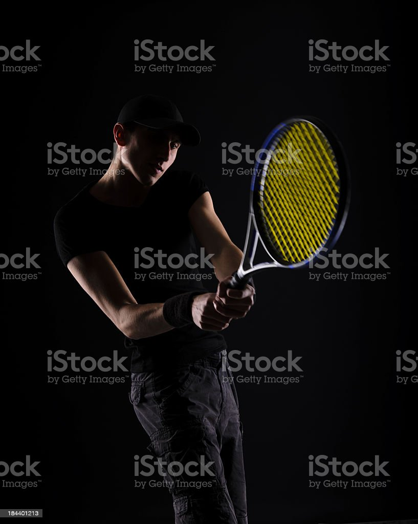 tennis man royalty-free stock photo