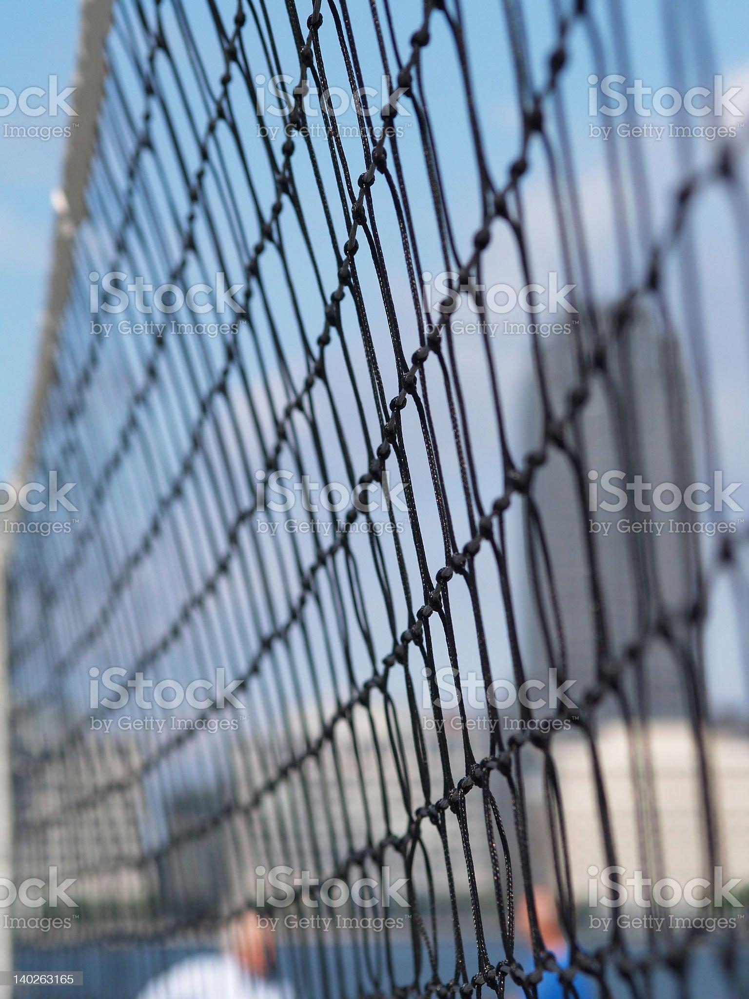 Tennis Net against sky  2 royalty-free stock photo