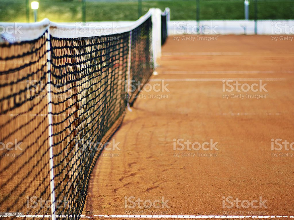 Tennis net at night royalty-free stock photo