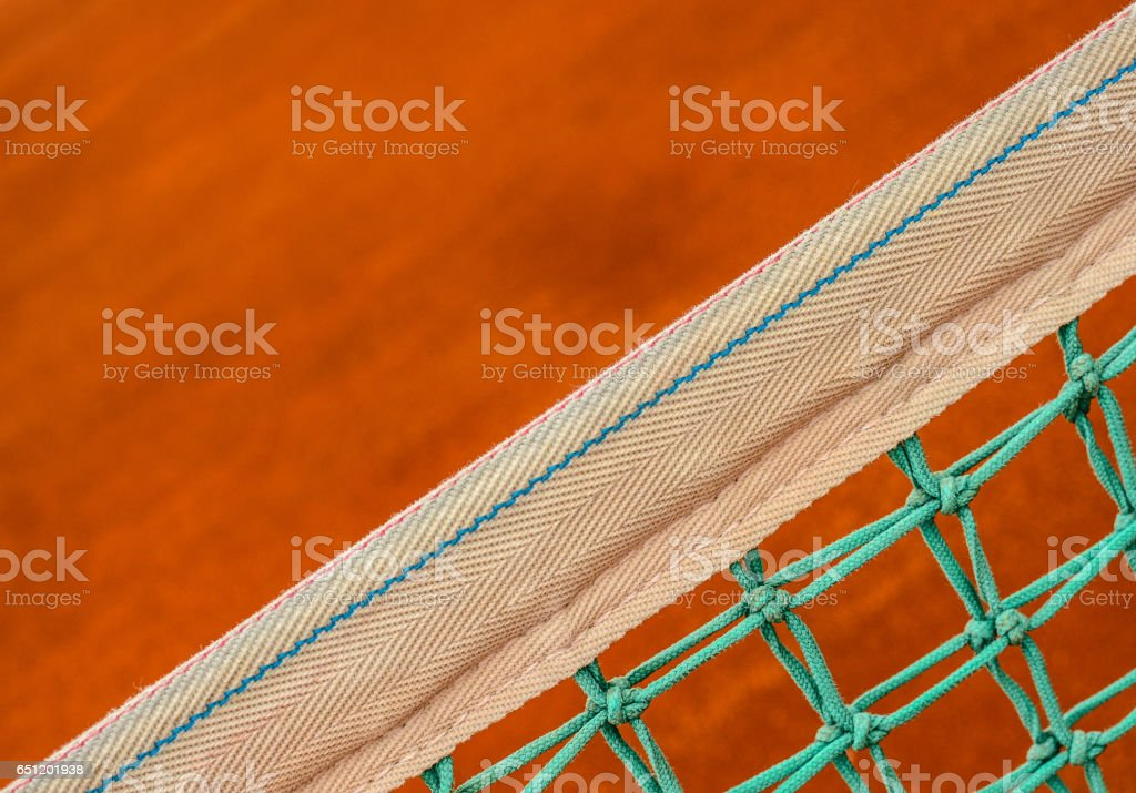 Tennis net closeup stock photo