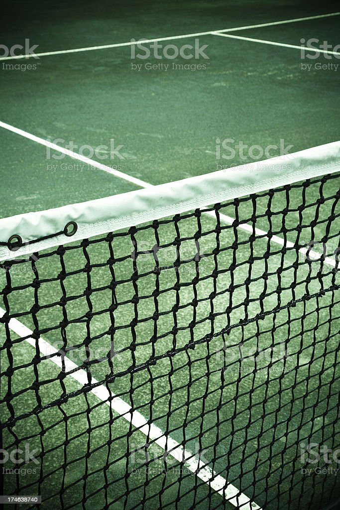 tennis net detail stock photo