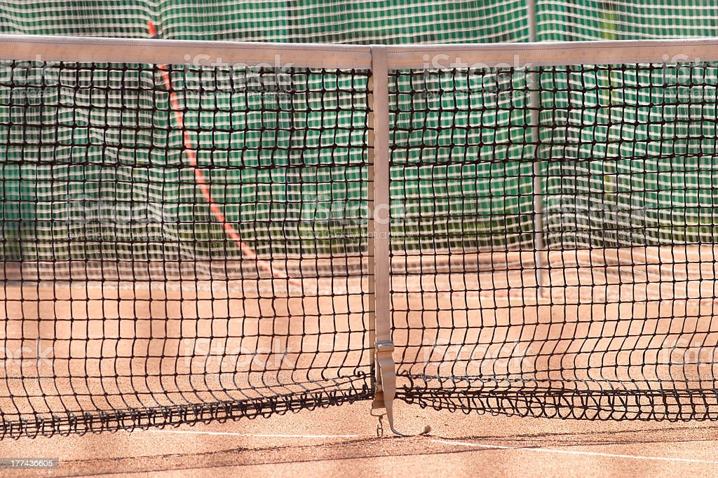Tennis net on court closeup royalty-free stock photo