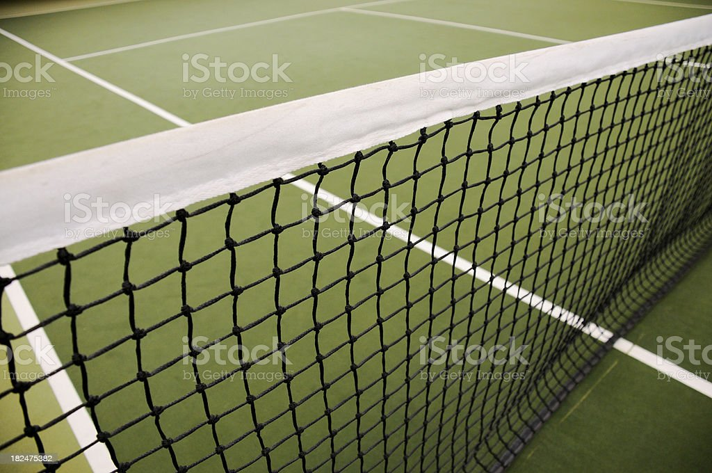 Tennis net wide stock photo