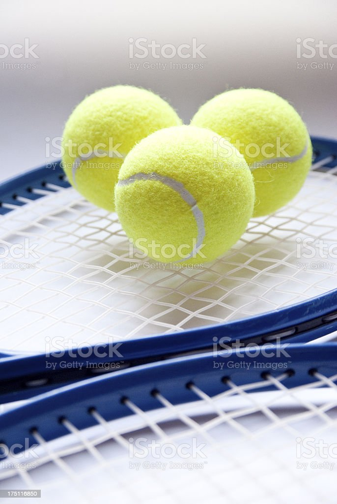 Tennis objects royalty-free stock photo