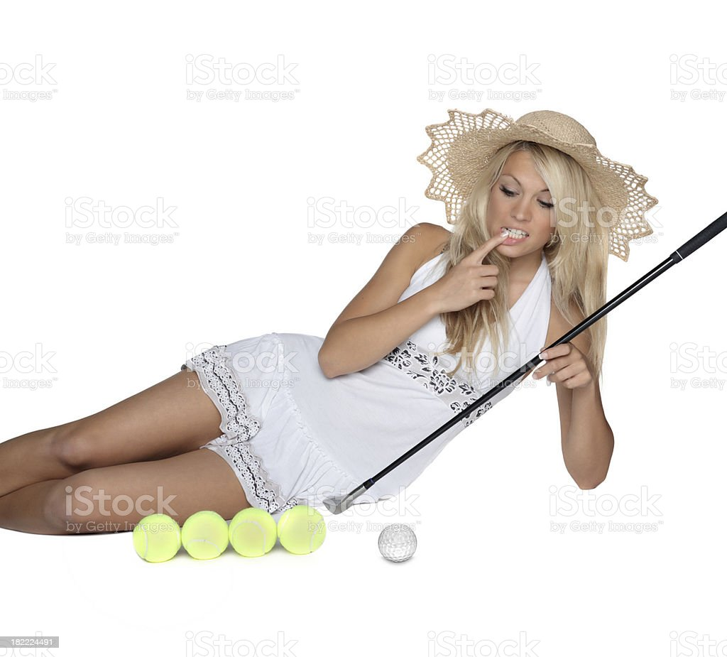 tennis or golf royalty-free stock photo
