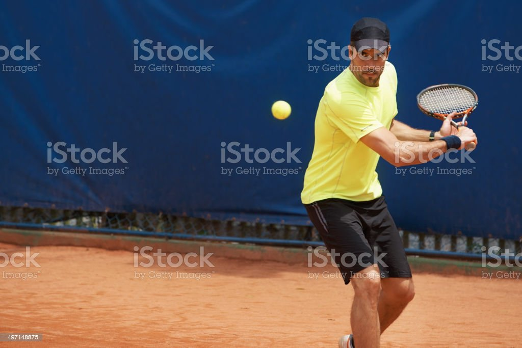 Tennis or nothing royalty-free stock photo