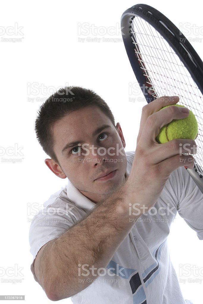 Tennis palyer royalty-free stock photo