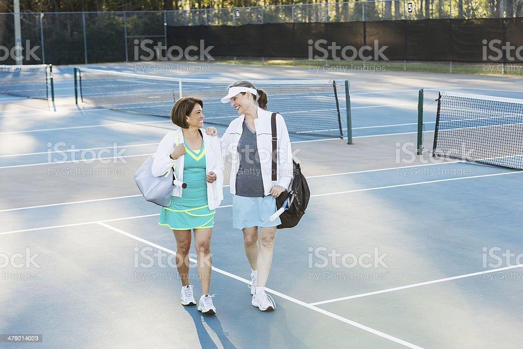Tennis partners royalty-free stock photo