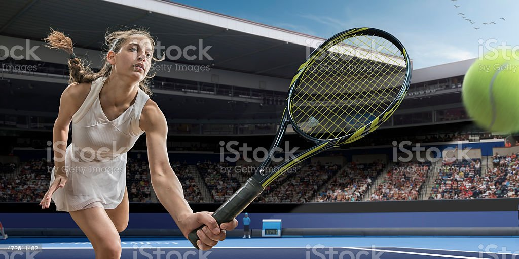 Tennis Player Action stock photo