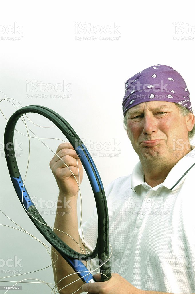 tennis player exasperation royalty-free stock photo