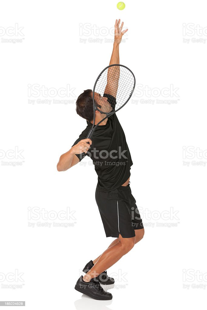Tennis player in action royalty-free stock photo