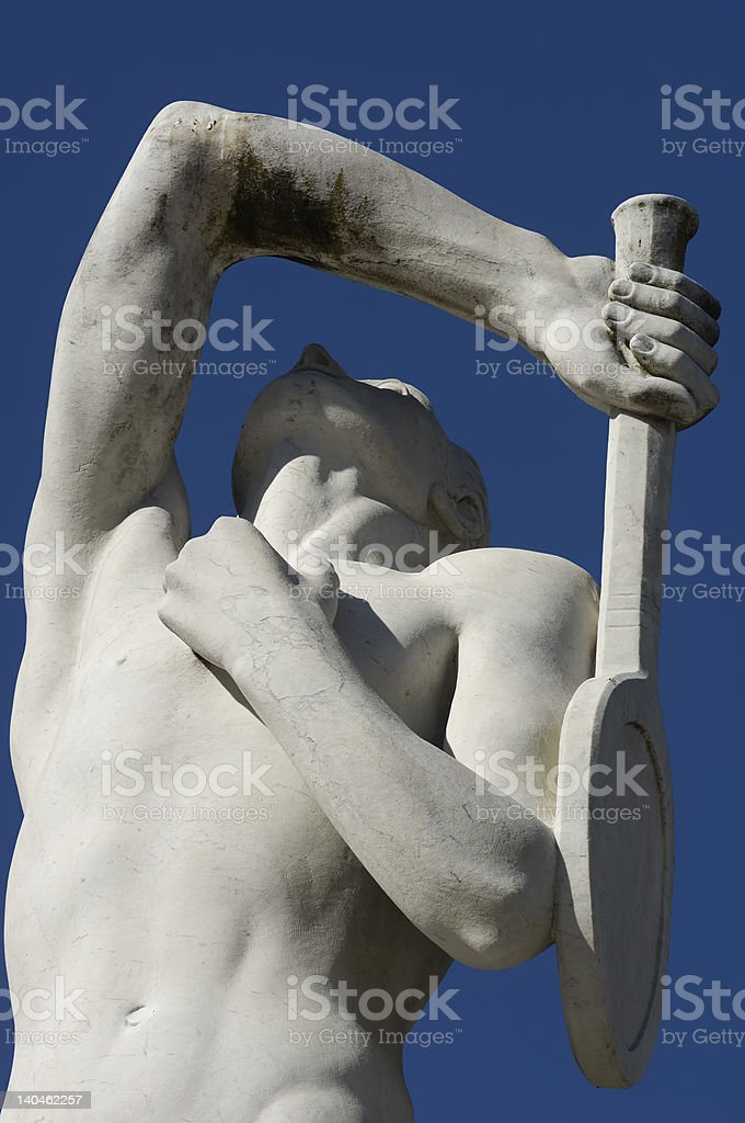 tennis player modern sculpture royalty-free stock photo