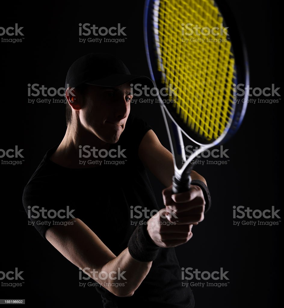 tenis player stock photo