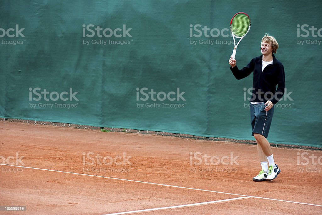 Tennis player (young man) royalty-free stock photo