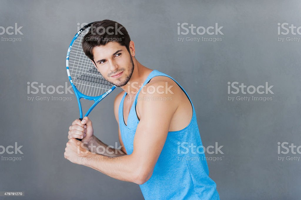 Tennis player. stock photo