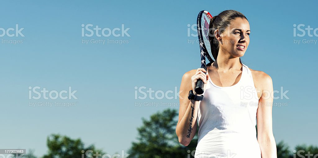 Tennis player ready for a match royalty-free stock photo